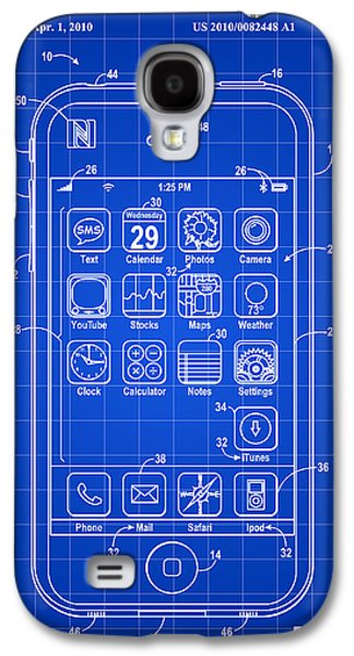Player Galaxy S4 Cases - iPhone Patent - Blue Galaxy S4 Case by Stephen Younts