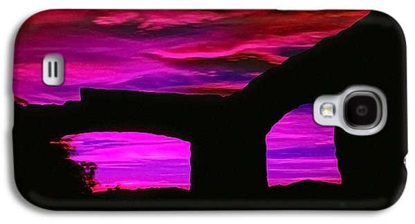 Photo Manipulation Galaxy S4 Cases - IR Ruins Sunset Galaxy S4 Case by Bill Caldwell -        ABeautifulSky Photography