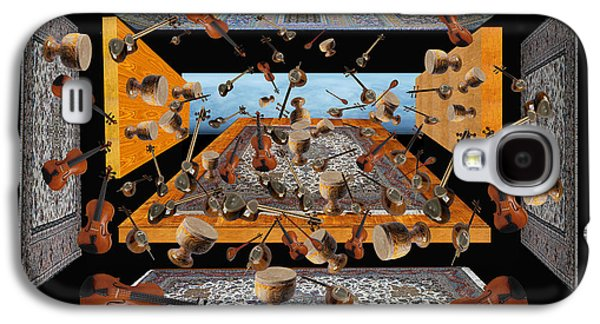 Photo Manipulation Paintings Galaxy S4 Cases - Iran Music Room Galaxy S4 Case by Dariush Alipanah- Jahroudi