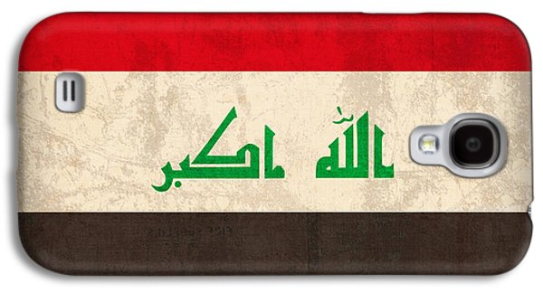 Iraq Galaxy S4 Cases - Iraq Flag Vintage Distressed Finish Galaxy S4 Case by Design Turnpike