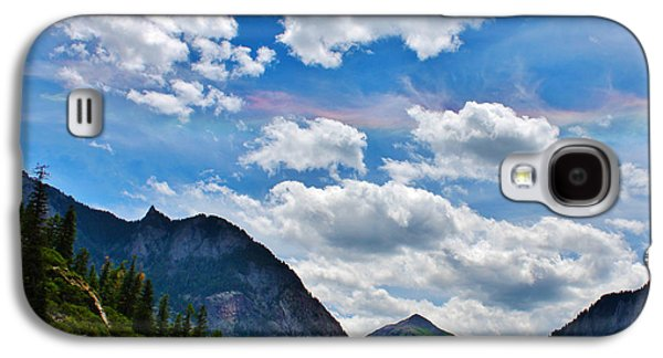 A Summer Evening Landscape Galaxy S4 Cases - Iridescent Clouds Above Ouray Colorado Galaxy S4 Case by Janice Rae Pariza