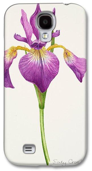 Botanical Galaxy S4 Cases - Iris laevitigata Galaxy S4 Case by Sally Crosthwaite