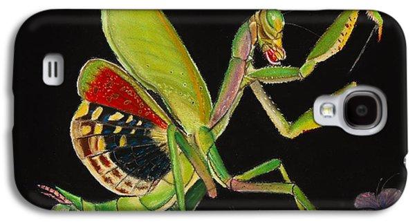 Butterfly Prey Galaxy S4 Cases - Iris oratoria Galaxy S4 Case by Mik Smith