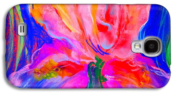 Drawing Galaxy S4 Cases - Funky Iris Flower Galaxy S4 Case by Sue Jacobi