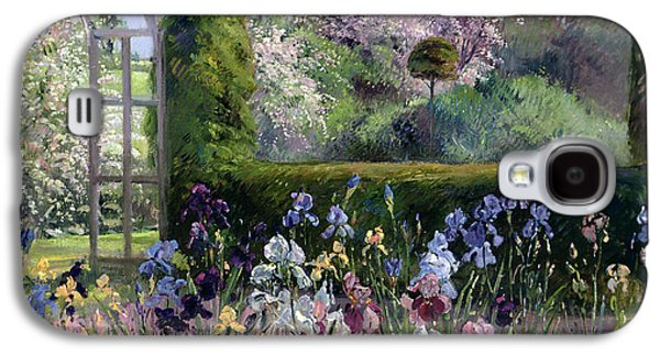 Landscapes Photographs Galaxy S4 Cases - Irises In The Formal Gardens, 1993 Galaxy S4 Case by Timothy Easton