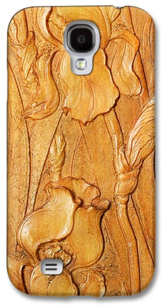 Bas Relief Reliefs Galaxy S4 Cases - Irises Koto-ku Galaxy S4 Case by Jeremiah Welsh