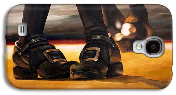 Dance Floor Paintings Galaxy S4 Cases - Irish Jig Dancing Feet Galaxy S4 Case by Michelle Iglesias