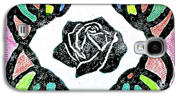 Linocut Paintings Galaxy S4 Cases - Irish Rose Galaxy S4 Case by Marita McVeigh