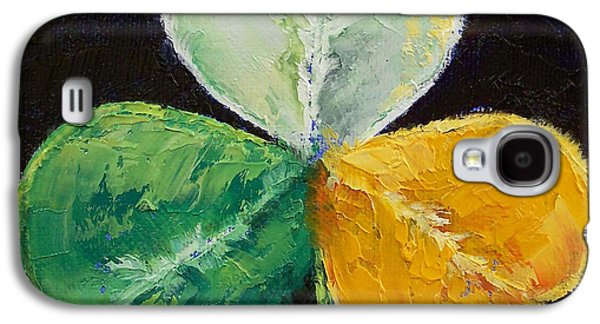 Symbol Paintings Galaxy S4 Cases - Irish Shamrock Galaxy S4 Case by Michael Creese