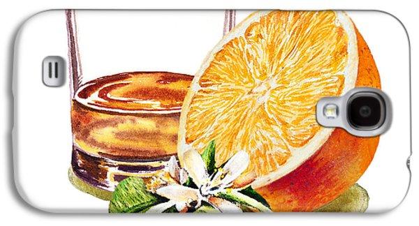 Whiskey Galaxy S4 Cases - Irish Whiskey And Orange Galaxy S4 Case by Irina Sztukowski