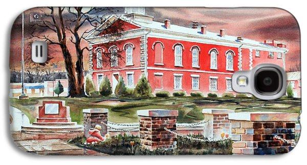 Storms Paintings Galaxy S4 Cases - Iron County Courthouse No W102 Galaxy S4 Case by Kip DeVore