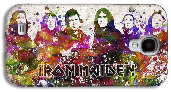 Famous Band Galaxy S4 Cases - Iron Maiden in Color Galaxy S4 Case by Aged Pixel