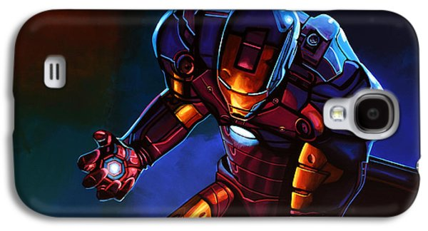 Picture Paintings Galaxy S4 Cases - Iron Man  Galaxy S4 Case by Paul  Meijering