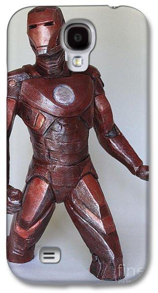 Iron Sculptures Galaxy S4 Cases - IronMan Galaxy S4 Case by Wayne Headley