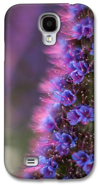 Colorful Abstract Galaxy S4 Cases - Irridescent Purple Glow Galaxy S4 Case by Mike Reid