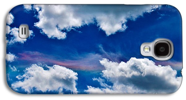 A Summer Evening Landscape Galaxy S4 Cases - Irridescent Rainbows Among The Clouds Galaxy S4 Case by Janice Rae Pariza