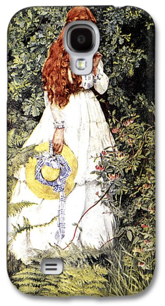 Garden Scene Digital Art Galaxy S4 Cases - Is She Not Pure Gold My Mistress Galaxy S4 Case by Eleanor Fortescue Brickdale
