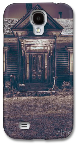 Cabin Window Galaxy S4 Cases - Is Someone Home Galaxy S4 Case by Margie Hurwich
