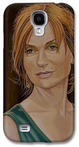 Isabelle Huppert Painting Galaxy S4 Case by Paul Meijering