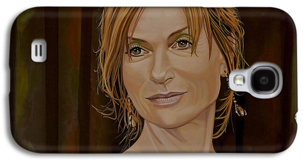 Piano Paintings Galaxy S4 Cases - Isabelle Huppert Galaxy S4 Case by Paul Meijering