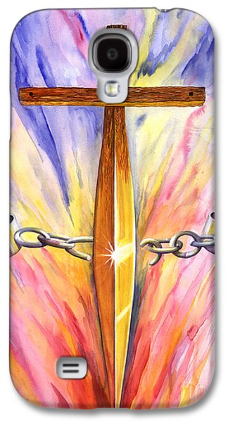 Jail Paintings Galaxy S4 Cases - Isaiah Sixty One verse One Galaxy S4 Case by Nancy Cupp