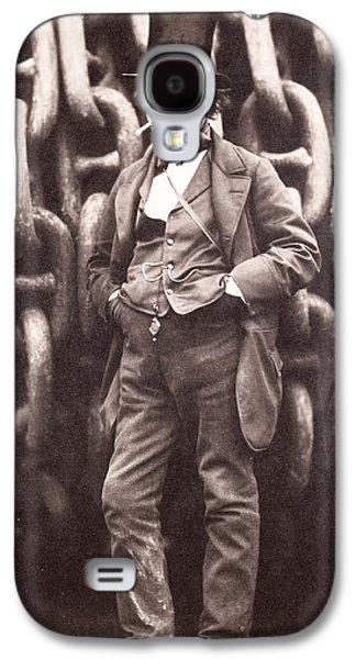 Portraits Photographs Galaxy S4 Cases - Isambard Kingdom Brunel  Galaxy S4 Case by Robert Howlett
