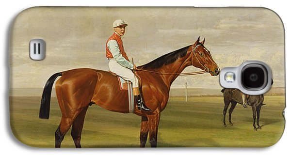 Jockeys Galaxy S4 Cases - Isinglass Winner of the 1893 Derby Galaxy S4 Case by Emil Adam