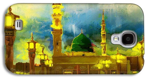Namaz Paintings Galaxy S4 Cases - Islamic Painting 002 Galaxy S4 Case by Corporate Art Task Force
