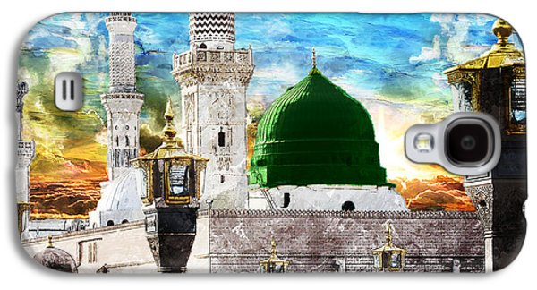 Namaz Paintings Galaxy S4 Cases - Islamic Painting 004 Galaxy S4 Case by Catf