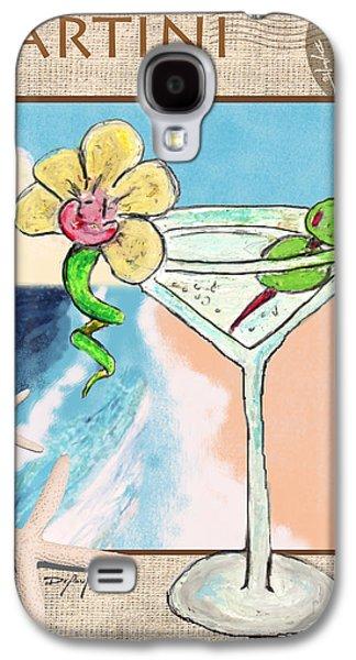 Original Art Pastels Galaxy S4 Cases - Island Martini Galaxy S4 Case by William Depaula