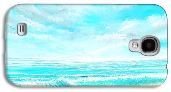 Inspired Paintings Galaxy S4 Cases - Island Memories - Seascapes Abstract Art Galaxy S4 Case by Lourry Legarde