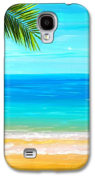 Inspired Paintings Galaxy S4 Cases - Island Paradise Galaxy S4 Case by Lourry Legarde