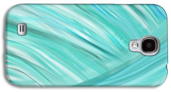 Green And Yellow Abstract Galaxy S4 Cases - Island Time Galaxy S4 Case by Lourry Legarde