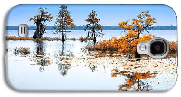 Tree Print Mixed Media Galaxy S4 Cases - Isle of Peace - North Carolina Galaxy S4 Case by Dan Carmichael