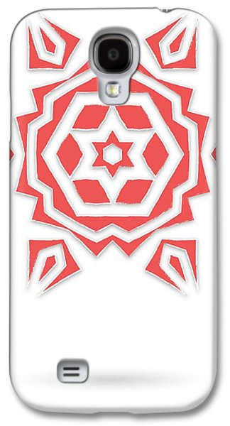 Modern Abstract Tapestries - Textiles Galaxy S4 Cases - Isolated abstract red stars Galaxy S4 Case by Jozef Jankola
