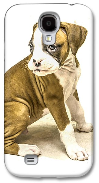 Isolated Boxer Puppy Galaxy S4 Case by Tony Moran