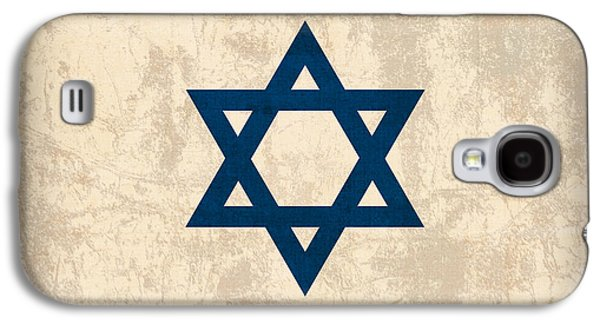 Flag Mixed Media Galaxy S4 Cases - Israel Flag Vintage Distressed Finish Galaxy S4 Case by Design Turnpike