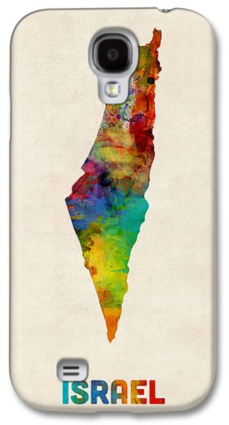 Map Galaxy S4 Cases - Israel Watercolor Map Galaxy S4 Case by Michael Tompsett
