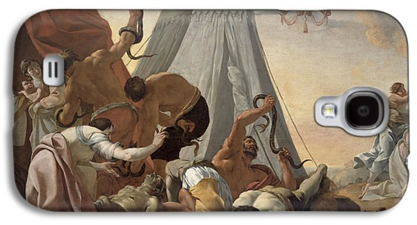 Serpent Galaxy S4 Cases - Israelites Afflicted With The Brazen Serpent Oil On Canvas Galaxy S4 Case by Simon Vouet