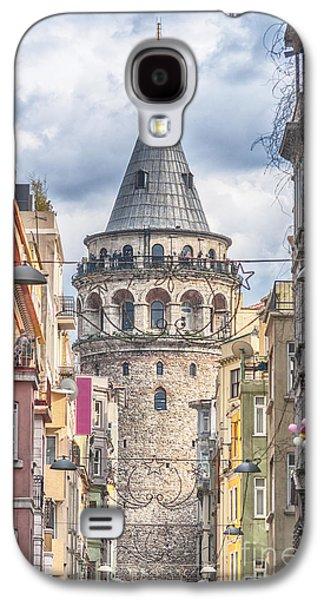 Istanbul Galaxy S4 Cases - Istanbul Galata Tower Galaxy S4 Case by Antony McAulay