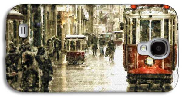 Istanbul Galaxy S4 Cases - Istanbul Nostalgic Tramway Galaxy S4 Case by Marian Voicu
