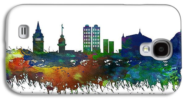 Istanbul Galaxy S4 Cases - Istanbul Skyline Watercolor Galaxy S4 Case by Celestial Images