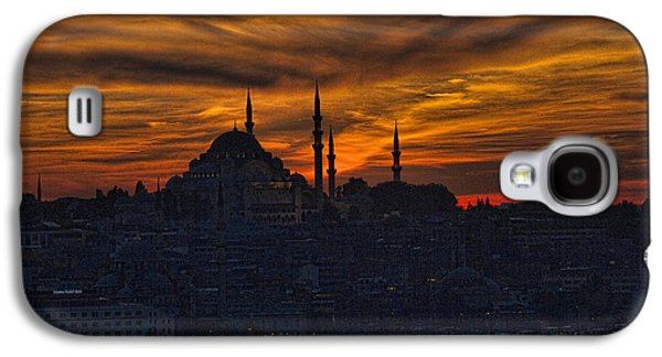 Setting Sun Galaxy S4 Cases - Istanbul Sunset - A Call to Prayer Galaxy S4 Case by David Smith