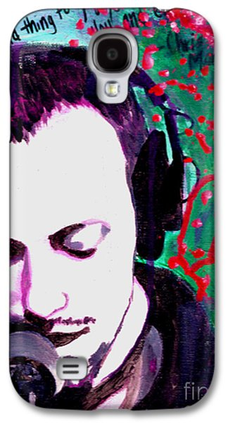 Coldplay Paintings Galaxy S4 Cases - It Was All Yellow Galaxy S4 Case by Rachel Faye Elliott