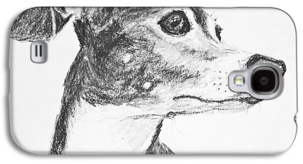 Italian Greyhound Sketch In Profile Galaxy S4 Case by Kate Sumners
