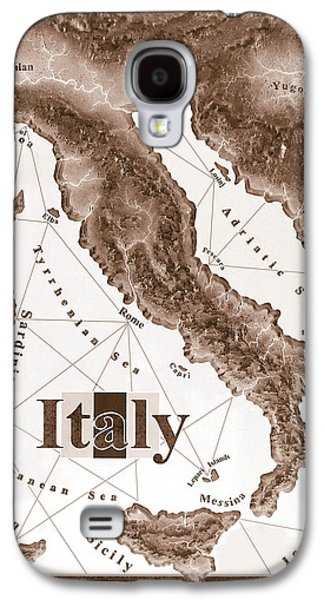 Wooden Sculpture Galaxy S4 Cases - Italian Map Galaxy S4 Case by Curtiss Shaffer