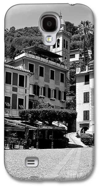 Portofino Cafe Galaxy S4 Cases - Italian Riviera Galaxy S4 Case by Corinne Rhode