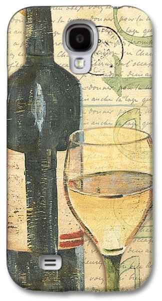Text Galaxy S4 Cases - Italian Wine and Grapes 1 Galaxy S4 Case by Debbie DeWitt