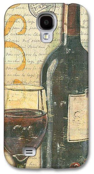 Purple Paintings Galaxy S4 Cases - Italian Wine and Grapes Galaxy S4 Case by Debbie DeWitt
