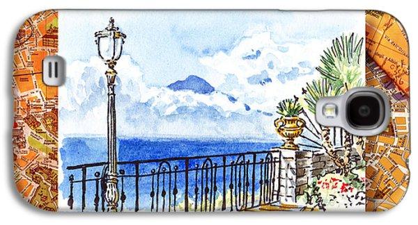 Italy Sketches Sorrento View On Volcano Vesuvius  Galaxy S4 Case by Irina Sztukowski